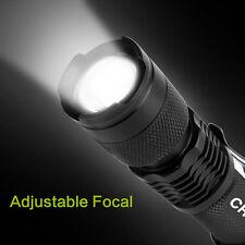 Tactical Flashlight LED 300 Lumen Waterproof Shockproof Hi/Low Beam Zoom Strobe