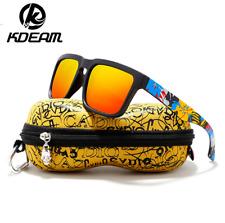 Kdeam 12 Colors Men Women Sport Polarized Sunglasses Outdoor Driving Glasses Hot