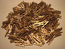 *** 1/10/20/40/60/80/160/400 - Mini Pinces à Linge en bois - 25 mm *** Doré