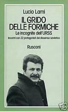 Lucio Lami = IL GRIDO DELLE FORMICHE