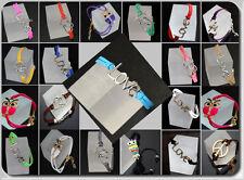 Lederarmband  Armband Shamballa Blogger Charm  Eule Anker Infinity Cross Emaille