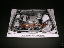 ALFA ROMEO-ALFA 75 MOTORE dettaglio (2.0 TS) PRESS PHOTO