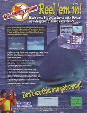 SEGA MARINE FISHING REEL EM IN ORIGINAL NOS VIDEO ARCADE GAME FLYER BROCHURE