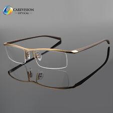 Half Rimless Titanium Eyeglass Frame Men Spectacles Glasses Optical Eyewear Rx