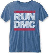 """Run DMC Logo Vintage"""""""" (Azul) - Burnout Camiseta Nuevo Y Oficial!"""