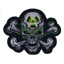 Lethal Threat Motorcycle Bike Jacket Embroidered Patch BIO SKULL LT30113 Medium