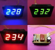 2 Wire AC 12-380V Digital LED Voltmeter RED BLUE GREEN Light Display 0.56'' DIY