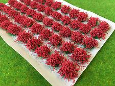 Grand Rouge Fleur Tufts-Modèle Décor Statique Herbe WARHAMMER wargame Basing
