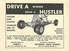 Vintage & Very Rare 1960 Uhrig Hustler Go-Kart Ad