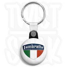 Lambretta Italian Shield - 25mm Scooter Keyring Button Badge, Zip Pull Option