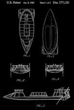 1985 - Tatooine Skiff - Star Wars - Patent Art Poster