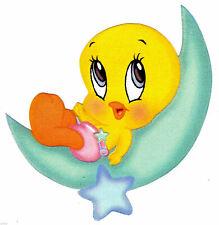 "5""-8"" LOONEY TUNES BABY TWEETY BIRD  WALL STICKER GLOSSY BORDER CUT OUT"