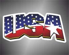 adesivo bandiera USA America  flag sticker aufkleber pegatina