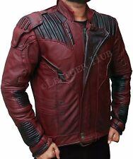 Guardians of the Galaxy 2 Star Lord Chris Pratt Marron en Cuir Véritable Veste
