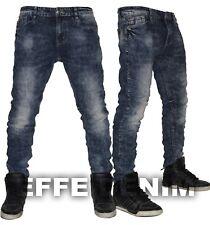 Jeans uomo Denim blu notte slim pantaloni elasticizzati nuovo art 7608