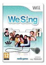 We Sing for Nintendo Wii & Wii U   VGC 4 Player Singing Music Game