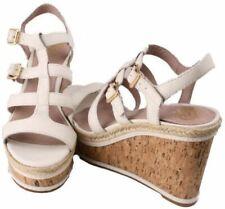 Vince Camuto Serafina Womens Cloud Combo Leather Open Toe Wedge Heels