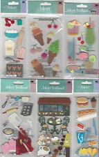 U CHOOSE  Assorted Jolee's FOOD & DRINK LONG 3D Stickers coffee ice cream apron