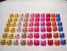 LOT de 6 BOUTONS CHAT KITTY 14mm - Coloris au choix - Scrapbooking couture