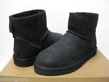 UGG CLASSIC MINI DECO MEN BOOTS LEATHER BLACK US 9 /UK 8 /EU 42 /JP 27