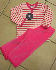 Schlafanzug, Nicky, pink/weiß geringelt,  von Petit Bateau.  NEU!