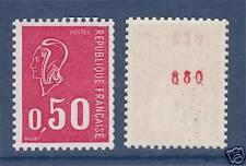 FRANCE N° 1664b ** Numéro rouge au verso, cote: 28 €