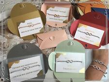 Unendlichkeit Trauzeugin Geschenk Armband Rosegold Silber Strass Freundin Mama