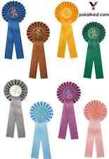 Turnierschleife | Pferdeschleife | Siegerschleife | Rosette inkl. 5 cm Emblem