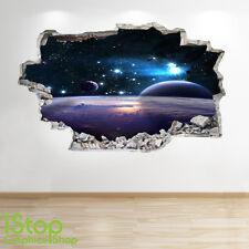 Spazio di adesivi murali 3D Look-LUNA PIANETA GALASSIA STELLE RAGAZZI BEDROOM Z166