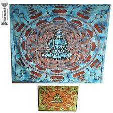 BUDDHA Yoga Tagesdecke Wandbehang couvre lit backdrop indien inde meditation om