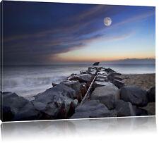 Wellenbrecher im Meer Leinwandbild Wanddeko Kunstdruck