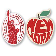 2 X New York Usa Adhesivos De Vinilo De Ipad Laptop coche Maleta De Viaje Etiquetas divertido # 4810