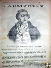 CHARLES-JAMES FOX 1749-1806 London whig tory Lord North