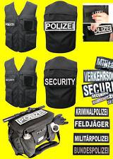 Security Polizei Zoll Patch Schriftzug Aufnäher FÜR Weste Jacke o. Einsatztasche