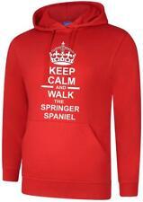 Keep Calm & Walk The Springer Spaniel Dog Mens Hoody Hoodie Hooded Sweatshirt