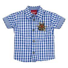 90776 Bondi Kinder Jungen Trachtenhemd Trachten Hemd blau NEU Gr. 62 - 116