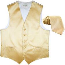 New formal men's tuxedo vest waistcoat & neck tie horizontal stripes ivory