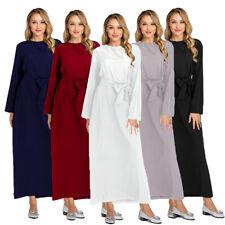 Dubai Abaya Muslim Dress Women Simple Long Maxi Dresses Islam Cocktail Robe Gown