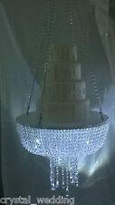 Impresionante espumosos Araña De Cristal suspendido Swing Pastel De Boda Stand