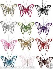 Small 9cm in nylon Glitter Clip Su Farfalle Nuovo Mesh Regalo Decorazioni Farfalla