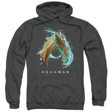 Authentic Aquaman Movie Water Shield Logo Pullover Hoodie Sweatshirt Small to 3X