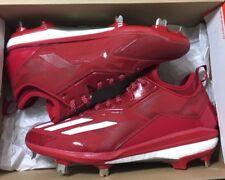 adidas Boost Icon 2.0 Metal Baseball Cleats Mens Size 11 Redwhite B72823