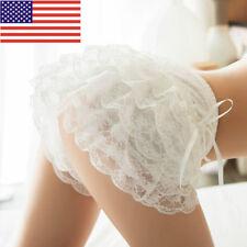 Lady Girl Sexy Frilly Lace Ruffle Shorts Knicker Panty Underwear White Black Hot