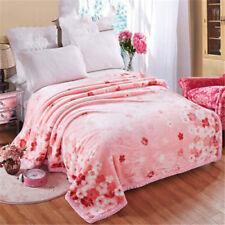 Spring/autumn/winter blanket Raschel double layers soft bed cover blankets queen