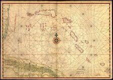 Poster Print Antique Cuban Map Cuba