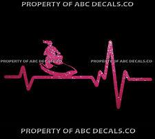 VRS HEART BEAT LINE JET SKI PWC Water Craft Girl Waverunner CAR METAL DECAL