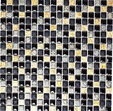 Mosaiksteine Resin/Naturstein schwarz mit kupfer Rustikal - Art: 92-0301_f