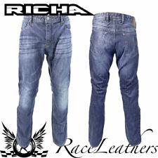 RICHA blu scuro HAMMER resistente all'abrasione Moto Jeans Regular Leg
