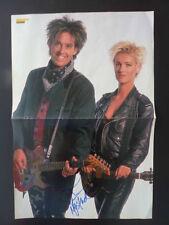 Roxette Autogramme signed 28x41 cm Poster gefaltet
