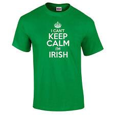 Io CAn't KEEP CALM I'M Irish Rugby Calcio SCHERZO DIVERTENTE Sport Unisex T-Camicia